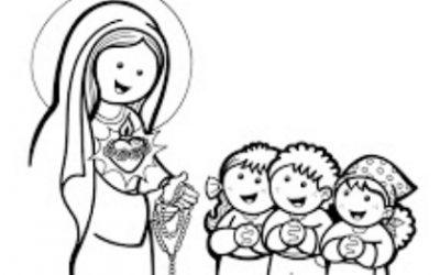 Ave Maria … schede da colorare per i più piccoli