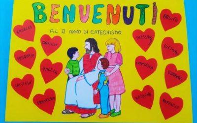 Idee cartelloni accoglienza, primo incontro, benvenuti Catechismo per bambini