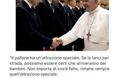 Il calciatore Bernardeschi avverte la presenza di Gesù e della Madonna