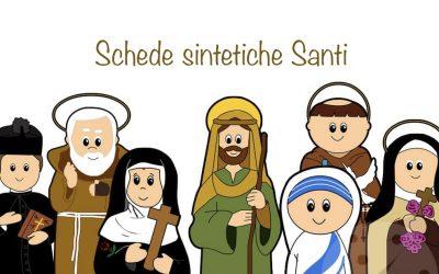 SANTI schede sintetiche per i ragazzi del catechismo