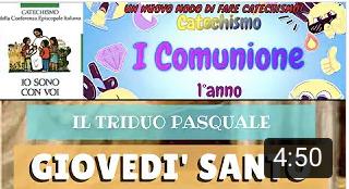 GIOVEDI' SANTO – ultima cena – liturgia – per i bambini – PADRE G