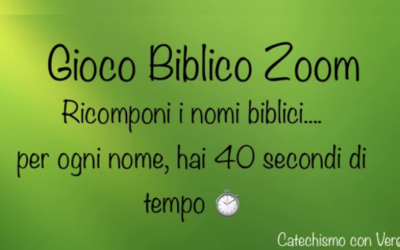 Gioco Biblico a distanza online