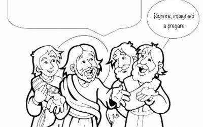 Padre Nostro- scheda da completare per i bambini del catechismo