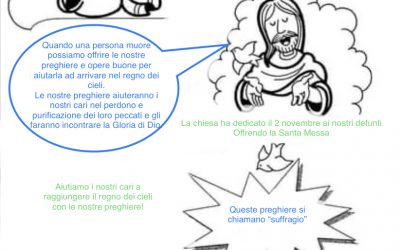 """Scheda catechismo """"commemorazione dei defunti """""""