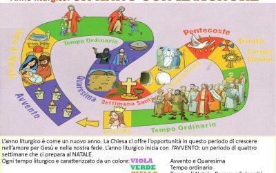 L'anno e i colori liturgici in immagini
