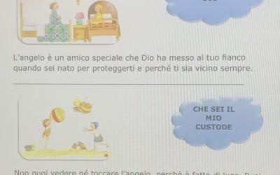Angelo di Dio – Preghiera spiegata e 3 schede in pdf per i bambini del catechismo