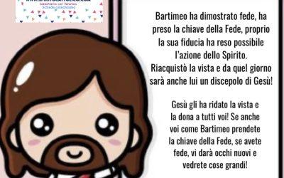 IL CIECO BARTIMEO – ATTIVITA LABORATORIO SCHEDE DA COLORARE – LA FEDE SPIEGATA AI BAMBINI CON UN RACCONTO- PDF