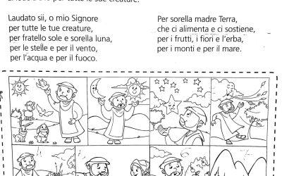 Il cantico delle creature scheda catechismo in PDF
