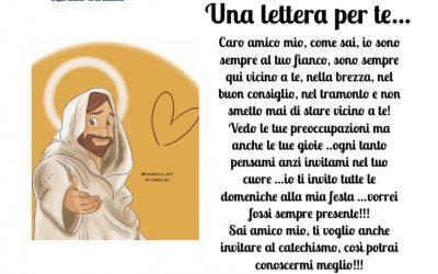Una letterina da Gesù per i bambini del catechismo…